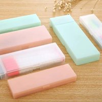 Cute Transparent PP Plastic Pencil Case Lovely Pen Box For Kids Gift Office School Supplies Materials Free 1AAR W08S