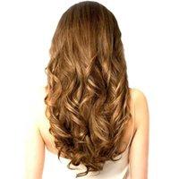 Parrucche sintetiche Sambraid Natural Natural Natural Hair Capelli clip in fibra di riscaldamento a 24 pollici nero in fibra di riscaldamento 4 clip un pezzo