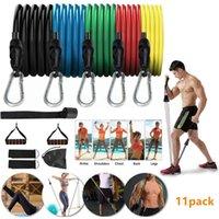 11pcs Fitness Résistance Bandes Formation musculaire Tirez sur Corde Set Ensemble de la ceinture de tension Un mot TPE