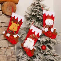 2019 Christmas Gift New Hot Santa Snowman Elk Christmas Socks Tree Childrens Gift Bags Window Shopping Mall Pendant N Christmas Table Decoration Chris G3AI#