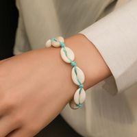 Conch Shell Weave Handmade Bracelets For Women Lady Beach Summer Hand Jewelry European Adjustable Size Knot Bracelet Fashion Accessories