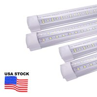 Stock In US + 8ft led tubes light 144W Integrated T8 tube 8 feet double Sides 768 LEDs 14400 Lumens AC 110-240V USALIGHT