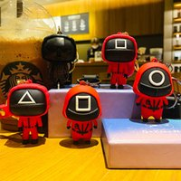 Squid Game Keyring Figure Soldier Charms 3D Key Chain Mini Doll Keys Car Backpack Pendant Gift