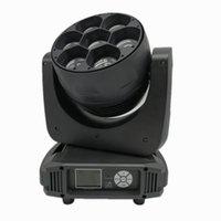 Efektler Yüksek Güç Mini 7 adetx40w RGBW LED Arı Göz Yakınlaştırma Hareketli Kafa DMX Sahne Aydınlatma Yıkama Disko Işın Efekti veya Parti Gösterisi ile