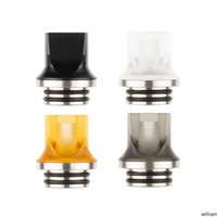2 Styles Acrylic Flat Mouth Drip Tip Plastic Metal SS DripTip Wide Bore Square Mouthpiece For for 510 810 Thread Tank Vape