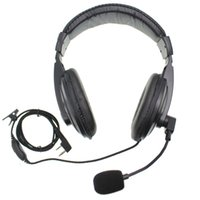 BAOFENG UV5R UV-82 Için Gürültü Kulaklığı İptali UV-82 Walkie Talkie PTT Vox Radyo Içinde Içinde Ile Senses Kulaklık 2 Pinler K Fişi BF-888S KDC1