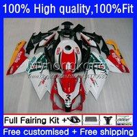 Fairings de injeção para Aprilia RS-125 RS4 RSV 125 Rs 125 RR 125RR RSV-125 8NO.11 RSV125 RS125 R 06 07 08 09 10 11 RSV125RR Red White BLK 2006 2007 2009 2011 2011 OEM corpo