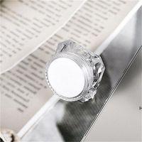15g Diamante estilo olla acrílico cosmético cosmético jarra de ojos maquillaje face crema labio bálsamo bálsamo contenedor muestra empaquetado DHE5815