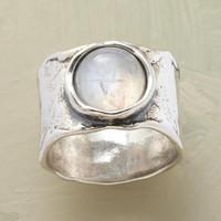 Wedding Rings Vintage Bohemian Moonstone for Women White Gold Color Retro Large Big Stone Promise Statement Girls Smycken