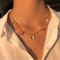 Старинные многослойные кулонные бабочка ожерелье для женщин бабочки луна звезда шарм колье ожерелье бохо ювелирные изделия рождественский подарок