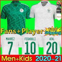 2020 2021 Camiseta de fútbol de Algerie MAHREZ FEGHOULI BENNACER ATAL 20 21 Kits de fútbol de fútbol de Argelia camiseta Fans versión del jugador conjuntos de hombres y niños