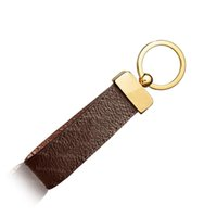 Keychain Key Chain Buckle lovers Car Keychain Handmade Leather Keychains Men Women Bag Pendant Accessories 4 Color 65221