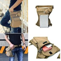 Men's Leisure Sports Bag Multi-functional Leg Pack Canvas Waist Military Leather Large Capacity Pockets Solid Color Male Bags
