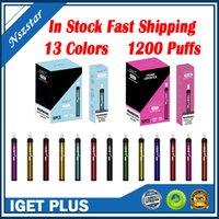 VAPE IGET PLUS ATAPABLE POD-Gerät mit Filterspitze E-Zigaretten 1200puffs 650mAh-Batteriesystem Pen-Sticks vs Shion XXL DHL FAST-Marke autorisiert