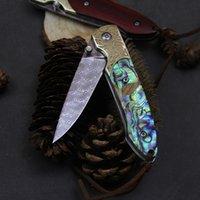 Handgemachtes Damaskus Handgemachtes Klappmesser Mini Klappmesser Tragbare Multifunktionale Outdoor-Messer-Frucht