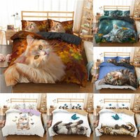 Cute Cats Butterfly Bedding Set Bed Linen Adult Kid Luxury Duvet Cover Pillowcase 2 3pcs Twin Full Queen King Bedclothes Sets