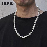 Accessoires de l'IEFB HOMMES HIP HOP HOP TITANIUM SPLINGER SPLINGER BLANCHE Collier de perles 2021 High Street 9Y5509