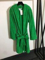 819 2021 High Quality Autumn Brand Same Style Sweaters Regular Long Sleeve V Neck Long Cardigan Green Women Clothes meiyi
