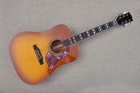 La guitarra acústica de 41 pulgadas de color de la fábrica de la fábrica con 6 cuerdas, el sólido superior, el fretboard de palisandro, se puede personalizar