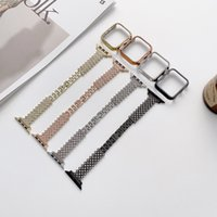Luxury Diamond Bling WristBand Bracelet Smart Straps Metal Watch Band Stainless Steel For Apple Watches 42mm 44mm 38mm 40mm strap