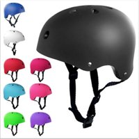 Adjustable Helmet Adult Child Bicycle Cycle Bike Scooter BMX Skateboard Skate Stunt Bomber Helmets Solid Color Cycling Supplies