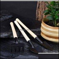 Spade Shovel Home & Gardenmini Set Outdoor Bonsai Handmade Plant Planting Flower Spade Shovel Garden Hand Tools Three-Piece Drop Delivery 20