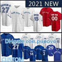 27 Vladimir Guerrero Jr.Toronto Blue Custom Custom Jays Baseball Jersey George Bell JoeCarter RobertoAlomar Justin Smoak Morris Martin Donaldson