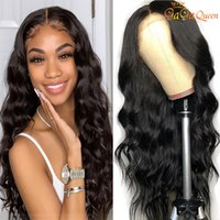 4x4 موجة الجسم الدانتيل إغلاق الباروكة البرازيلي إغلاق شعر مستعار شعر مستعار الشعر البشري 250٪ الكامل الكثافة قبل التقطه الأمامي الباروكات