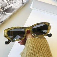 2021 gato-olho pequeno quadro óculos de sol mulheres homens trendy gato olho óculos retrô rua fotografia geométrica óculos