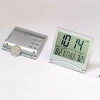 홈 오피스 전자 대형 스크린 디지털 알람 시계 LCD 온도계 다기능 영원한 캘린더 타이머 크리 에이 티브 여행 FWA7730