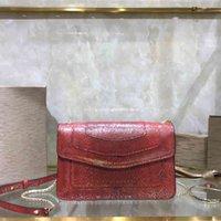 2021 Laatste stijl schoudertas 38102 Serpent Rood Geïmporteerd Zachte Koeienhuid Materiaal Lam Skin Binnen Emaille Knoppen Neem charme en aantrekkelijke