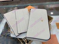 Felicie Zincir Pochette Çanta Üç Torbalar Tasarımcı Deri Çanta Tasarımcıları Lüks Havuz Yazında Yaz 2021 Koleksiyon Mini 3 Takım Kolu Çanta Cüzdan Kart Sahibinin