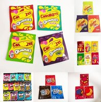 Cannaburst Gummies Mylar Bags 500mg Empty Tropical Sour Berries y Zipper Pouch Smell Proof Storage Resealable Edibles Packaging Bag zah