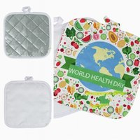 Sublimation Blank DIY Cushion Kitchen Plate Bowl Pot Insulating Mat High Temperature Resistance Pads Table Decoration