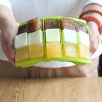 Nouveaux moules de plateau en silicone Cube de Cube Cuisine Outils congelés Moule Moule Moule Moule Chocolat Moules 15 Cavité carrée Panque de cuisson Muffin EWB7917