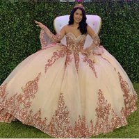 2021 Sparkly Quinceanera Dresses Modern Sweetheart Lace Applique Sequins Ball Gown Tulle Vintage Evening Party Sweet 16 Dress