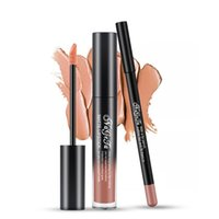 Lippenstifte 2 teile / satz Gloss Lip Liner Set Langlebige Lippenstift Wasserdichte Matte Flüssige Bleistift Lippen Kosmetika Kits