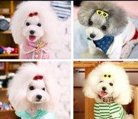 Pet Sunglasses Hairpin Headdress Plastic Small Dog Hair Clip Puppy Head Flower Headdress Dogs Love Heart hair accessories 10Colors dff1989