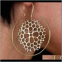 Kronleuchter Frauen Punk Tribal Indische Spirale Drop Charming Schmuck Baumeln Ohrring Piercing-Stil für Mädchen Geschenk 4SNU4 FFB9A