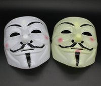 Party Masks V for Vendetta Masks Anonymous Guy Fawkes Fancy Dress Adult Costume Accessory Plastic Party Cosplay Masks GWB11122