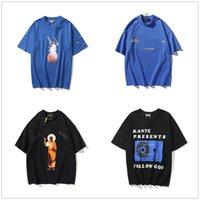 Kanye Erkekler T Gömlek Kadın Kısa Kollu Yüksek Kalite Yaz Tees Mektubu Baskı Hip Hop Tarzı Giysileri ile Etiket Kutusu