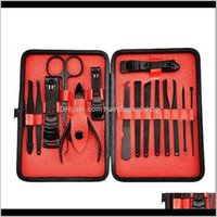 Kits 15Pcs Art Tools Clipper Manicure Set Toe Nail Cutter Trimmer Grooming Pedicure Stainless Steel Nqmp7 Lao20