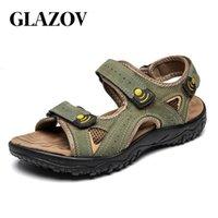GLAZOV Summer Men's Sandals Breathable Beach Outdoor Shoes Summer Roman Men Sandals High Quality Slippers Soft Bottom