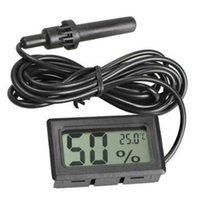 온도 계측기 미니 디지털 LCD 습도계 습도 미터 온도계 프로브 화이트와 블랙 재고 무료 SN2476 54O3