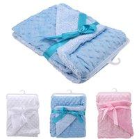 Blankets & Swaddling Soft Baby Warm Fleece Born Stroller Sleep Cover Cartoon Beanie Infant Bedding Quilt Wrap Kids Bath Towel