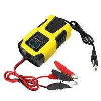 Car Caricabatteria Car Caricabatteria Digital LCD Display Power Pulse Riparazione Caricabatterie UE Plug 6V / 12V 2A Automatico completo