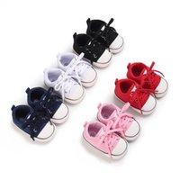 حذاء طفل أول مشوا الوليد الأحذية الفتيات بنين أحذية رياضية الرضع الأحذية الأخفاف لينة طفل ارتداء ربيع الخريف الرياضية قماش B8749