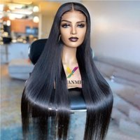 Lace Wigs Brazilian Straight Front Human Hair 4x4 Frontal Pre Plucked Hairline Closure Wig Natural Remy