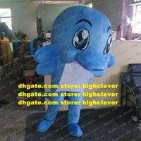 Blue Dolphin Porpoise Delphinids Whale Mascot Costume Adulto Personaggio del personaggio dei cartoni animati Vestito I beni più scelti Grazie ZX2998