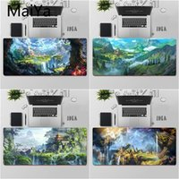 Mouse Pads & Wrist Rests Maiya Top Quality Beautiful Anime Fantasy Town Tree Durable Rubber Mat Pad Large Keyboards